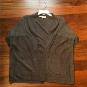 Grey LOFT short sleeved cardigan size M